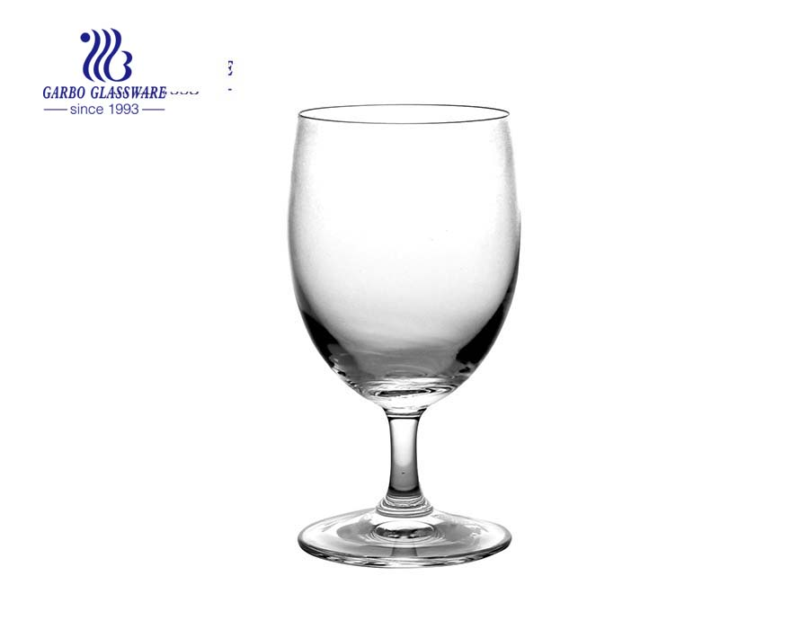335ml 11.8oz machine blown crystal white wine glass for wedding
