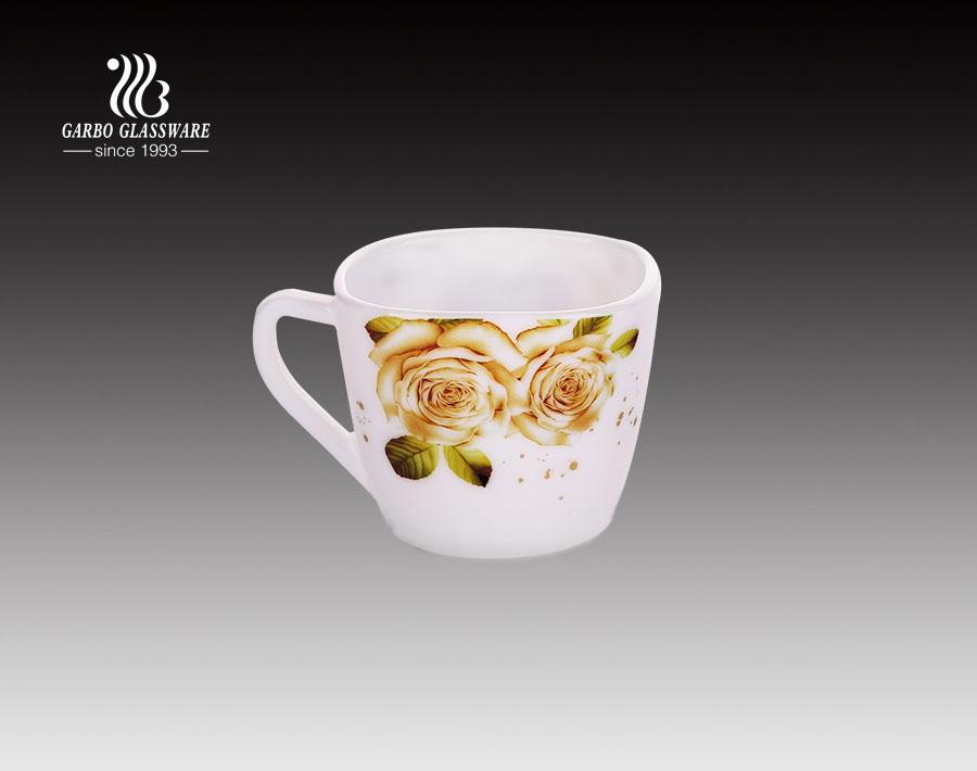 220ML White opal glass mug tableware dinner mug cup for tea