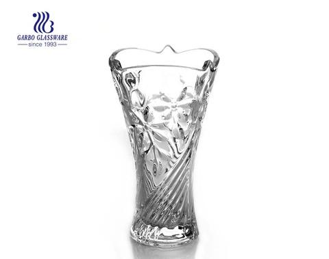 Florero de vidrio de decoración de mesa de habitación simple clara