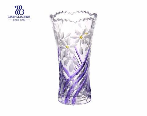 Dekoratives Geschirr Customized Spray Bunte Glasvase