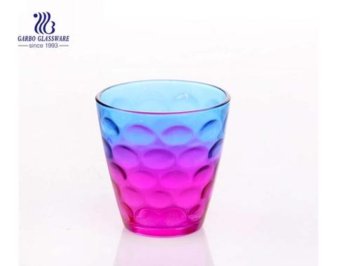 10 Unzen Ei Form Punkt Design Saft Trinkglas Tasse