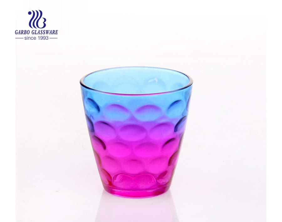 10oz egg shape dot design juice drinking glass cup