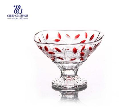 Beliebtes Design, das farbige Glas-Eisschale zum Nachtisch druckt