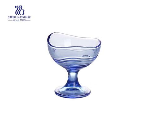 Bule Farbdruck Glas Eisschale für den Großhandel