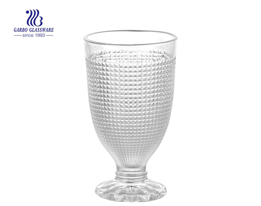Factory cheap spining wave shape glass sundae cup