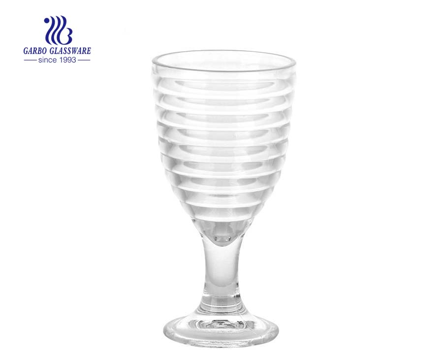 مصنع رخيصة موجة الغزل شكل كأس الزجاج مثلجات