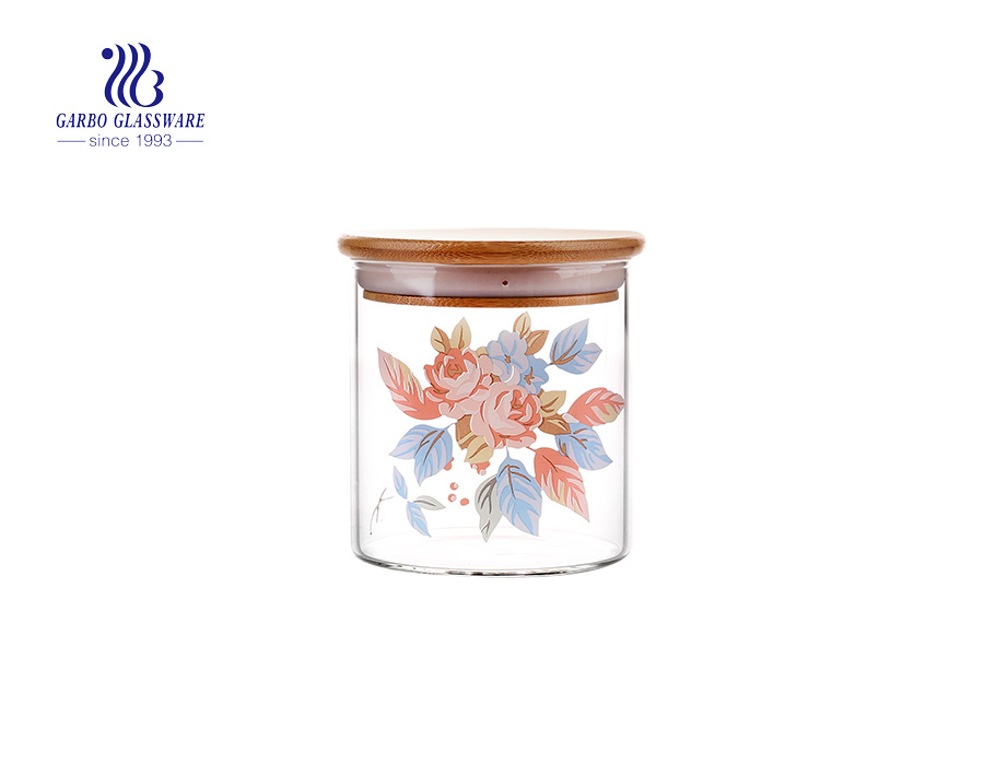 High borosilicate Glass Storage Jar with Cork Lid, 900ml Glass Cylinder Containers with Cork Lid, Glass Food Storage Jar