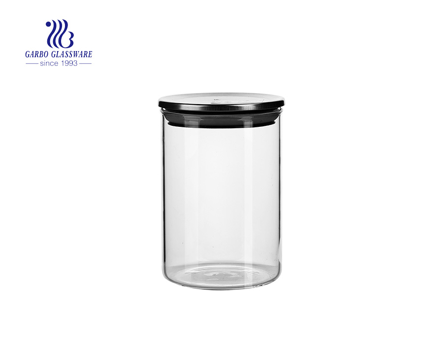 3Piece Canisters Sets with Silicone Seal Borosilicate Glass Jars Vacuum Seal for Tea Coffee Sugar Pop Flour Canister for Kitchen
