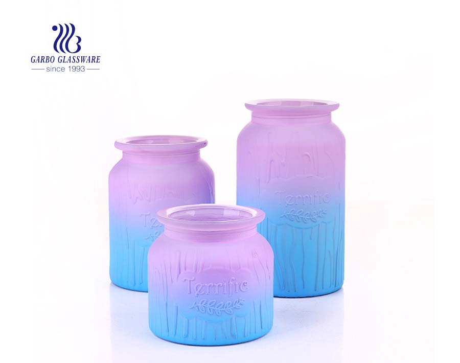 colored glass jar  DIY crafts  Decor - Safe For Canning, Pickling, Storage