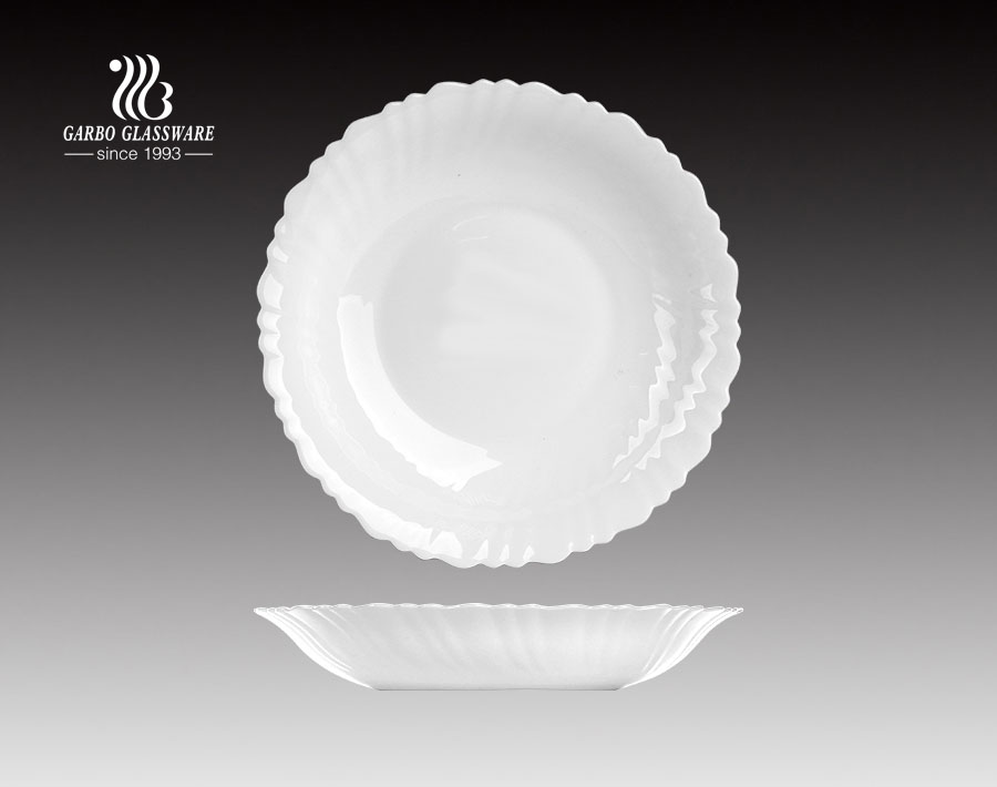 11.2inch Opalglass Dinner Plate With Custom Decals