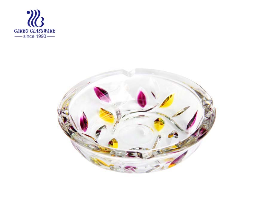 Sun flower design round shape smoking ashtray for Russia