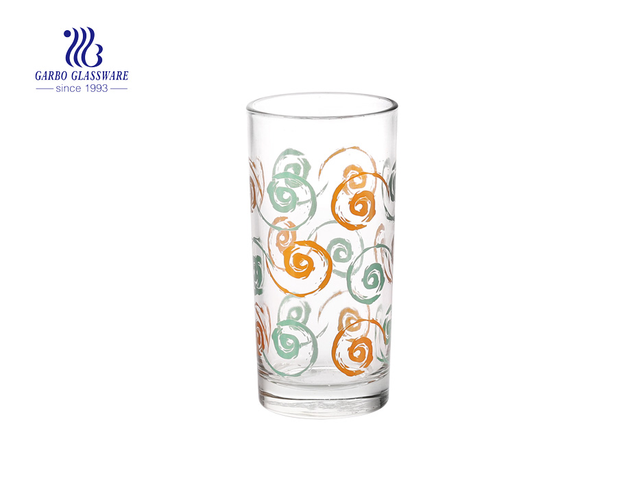 8oz daily using printing water drinking glass cup