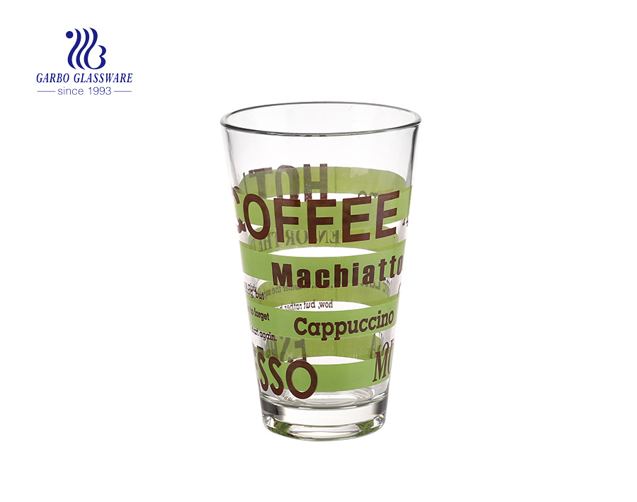 11oz printing and decals water and tea drinking glass cup