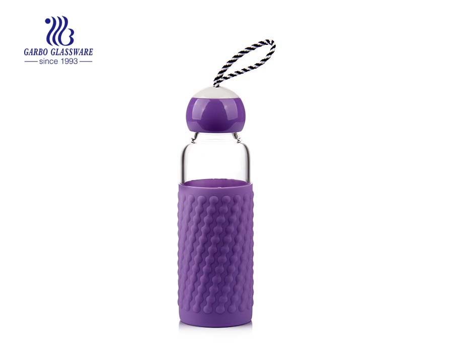 350ml Borosilicate Glass Water Bottle With Neoprene Seelve