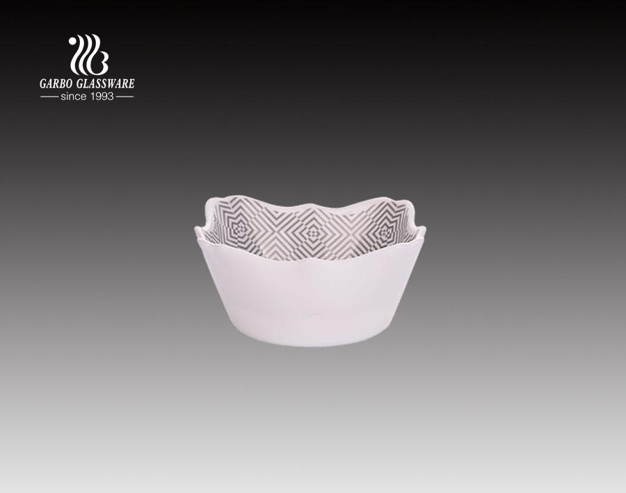 8 Zoll gehärtetes Opalglas Geschirr Opal Glasschale mit Aufkleber