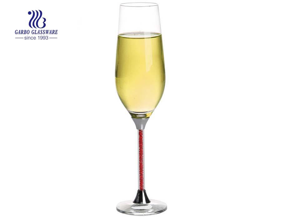 240 ml de copa de vino con copa de champán de cristal rojo champán para weding