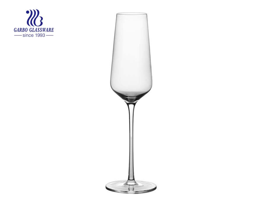 240ml champagne red crystal stemed goblet wine glass for weding