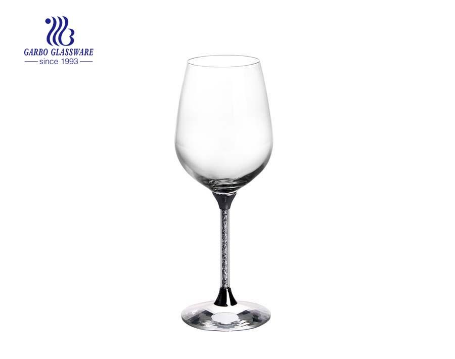 410ml rhinestones stem Lead-Free Crystal red wine glass