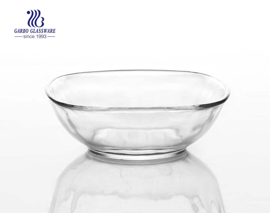 Tazón de vidrio con logotipo en forma de V de 5.5 pulgadas de grado alimenticio personalizado