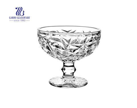 Neue Ankunft charmante gravierte Glas Eisbecher Schüssel zum Nachtisch
