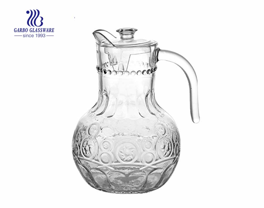 Football shape glass jug glass pitcher for wholesale China Chongqing factory