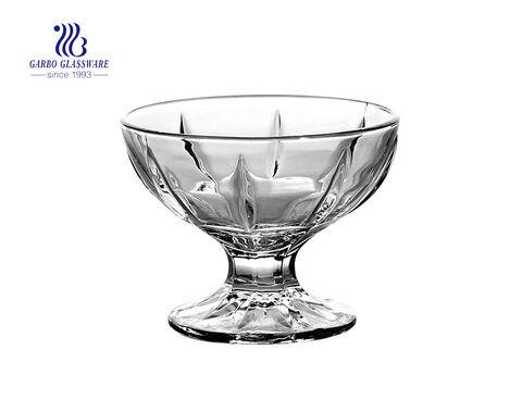 Taça de sorvete de vidro de alta qualidade de design popular para sobremesa