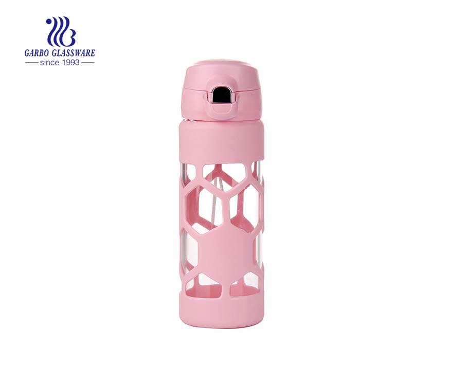 350ml Pyrex Glass Hot Water Bottle With Decals