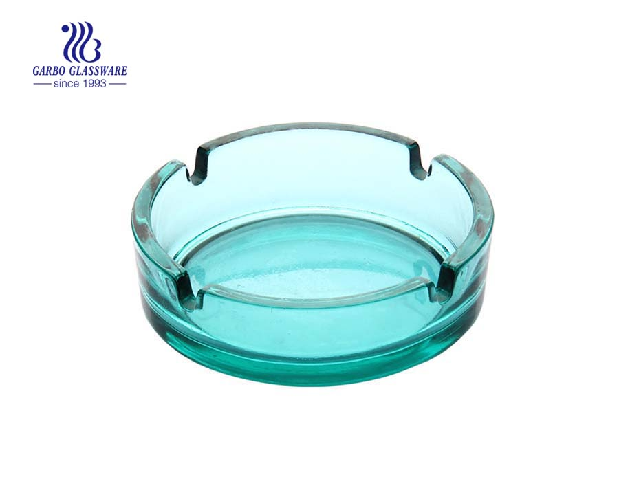 Colorful printing design glass ashtray for cigar smoking room