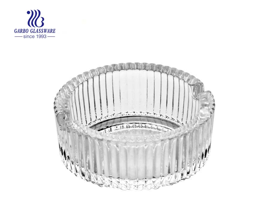 Regular round shape smoking glass ashtray with cheap price