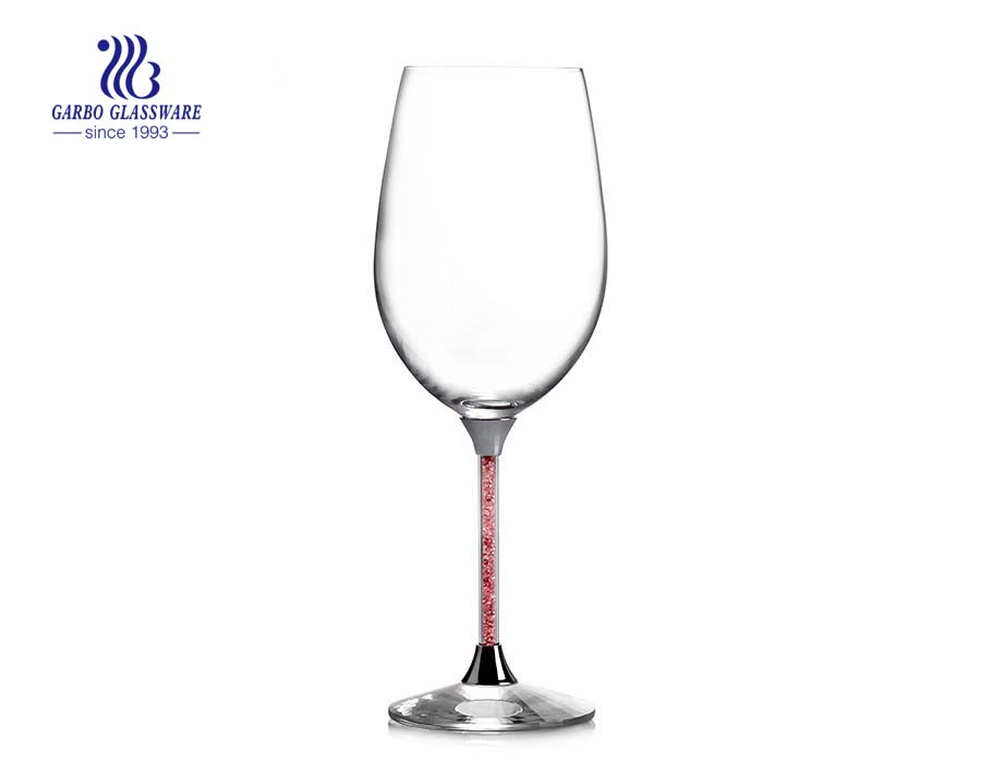 8OZ 225ML Lead-free crystal stainless steel standing champagne glass