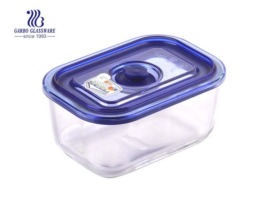 High quality rectangle microwave and oven safe glass lunch box