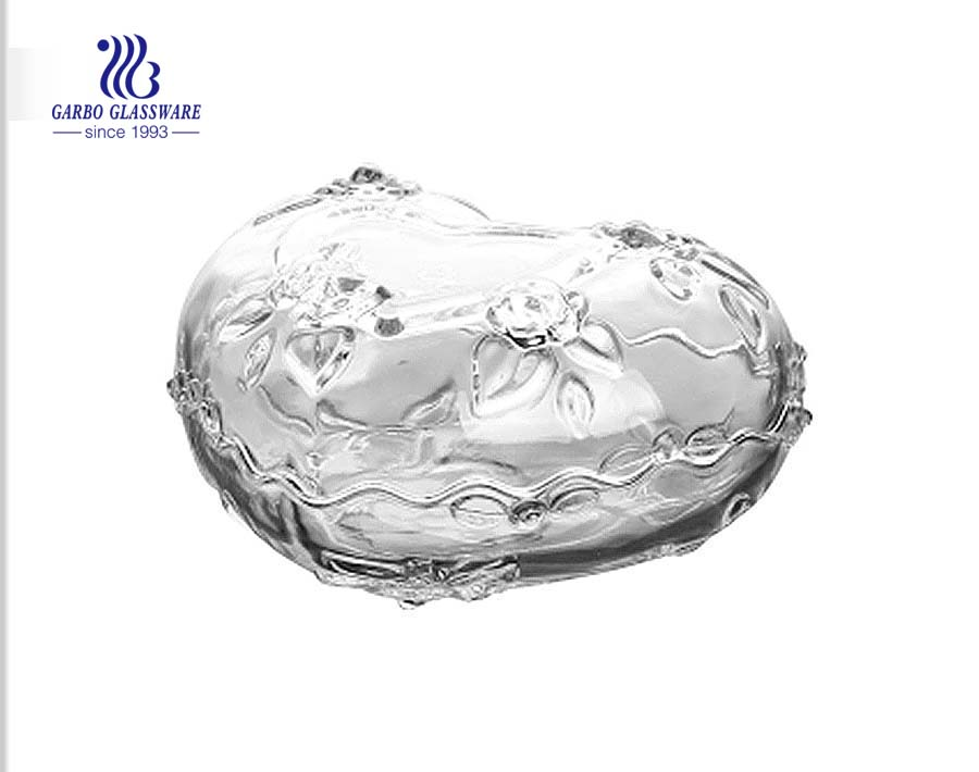 New Design Glass Candy Pot Sweet Jar With Lid