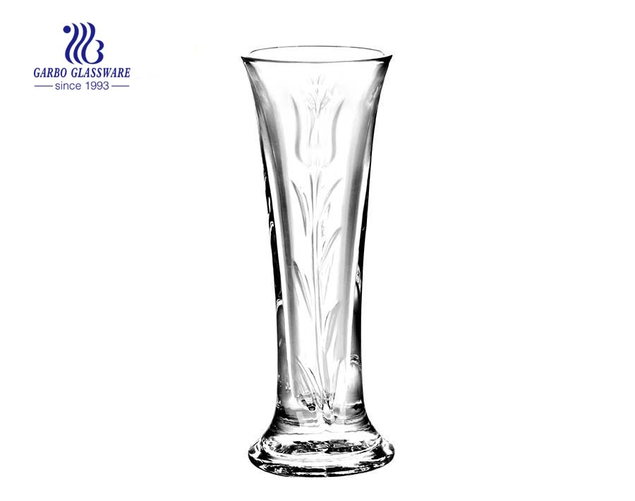 Simple Blowing Clear Glass Vase Table Room Decoration