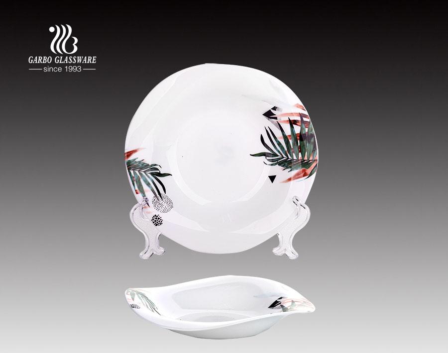 Aktien kundenspezifische Deisgns Tempering White Opal Glass Kitenware