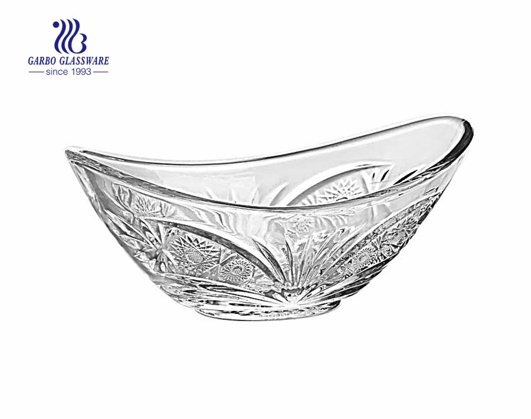 Taça de sobremesa de vidro de fábrica de design extravagante para casa
