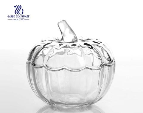 Pote de caramelo de azúcar del caramelo de cristal del buen diseño de China / tarro del caramelo con la tapa