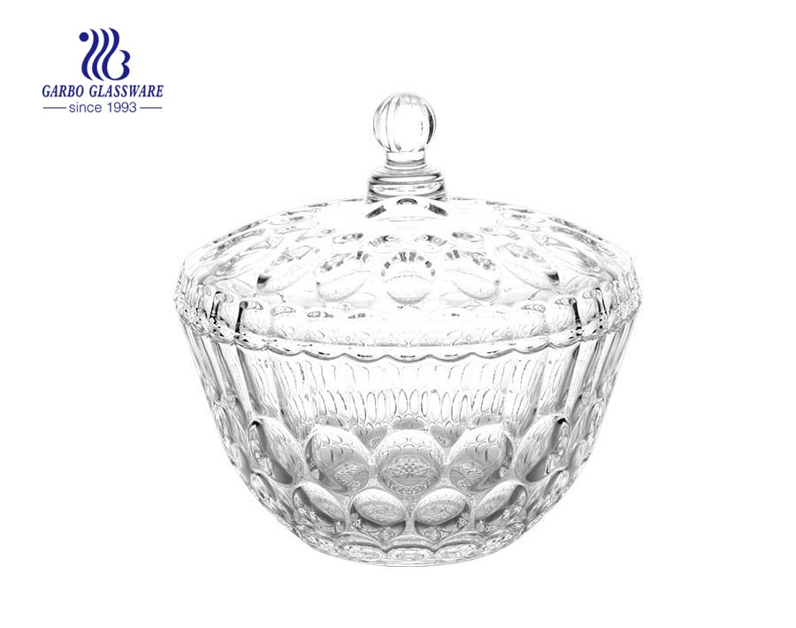 China Good Design Glass Candy Sugar Candy Pot/Candy Jar With Lid