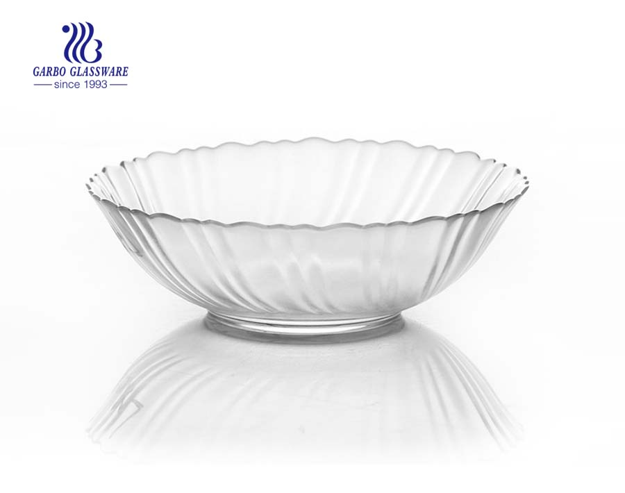 High quality 4.5inch glass serving bowl with slant cut