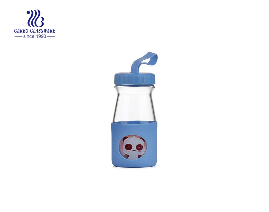 500ml Pyrex Glass Hot Milk Bottle With Lid