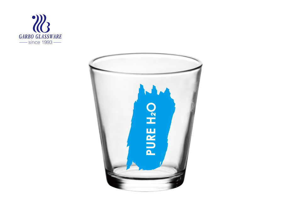 250ml water drinking printing glass cup