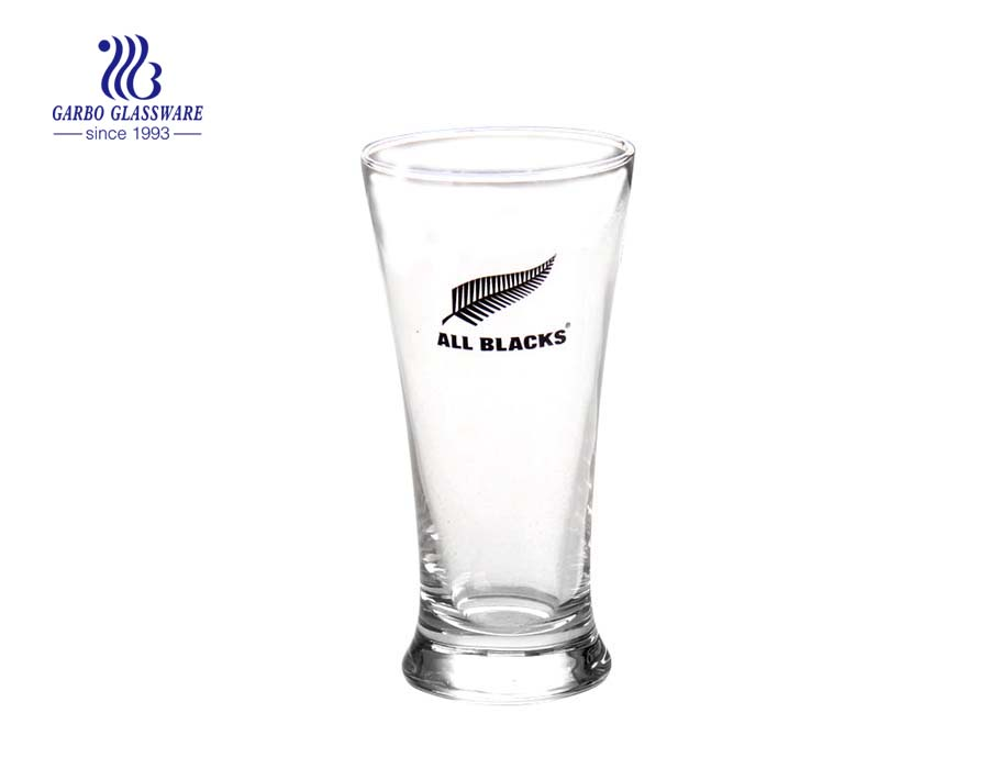 12oz beer drinking decals blowing glass cup