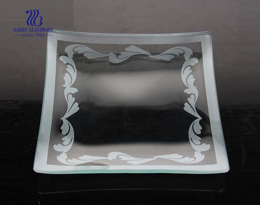 Quadratische flache Glasplatte 7.2 Zoll mit individuellem Druck