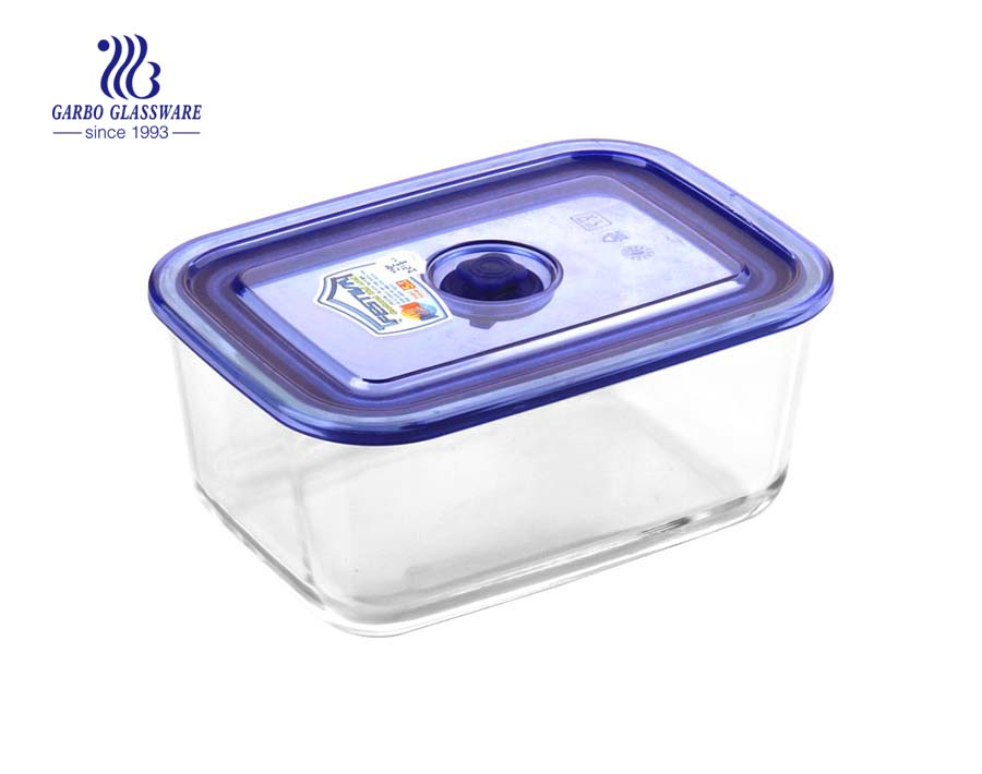 7.5inch LFGB Certified borosilicate glass containers for meal prep with lid
