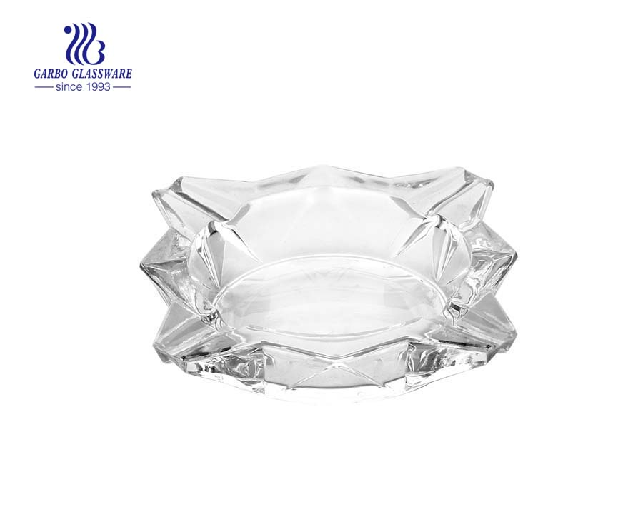 Spray blue color smoking glass ashtray for wedding decoration
