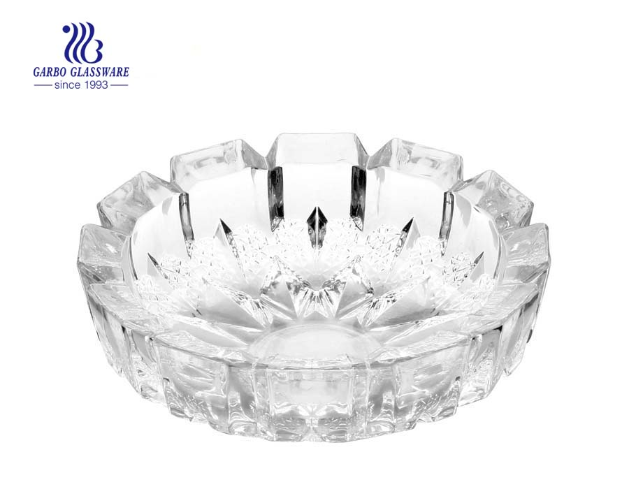 Custom printing available clear engraved glass ashtray for smoking