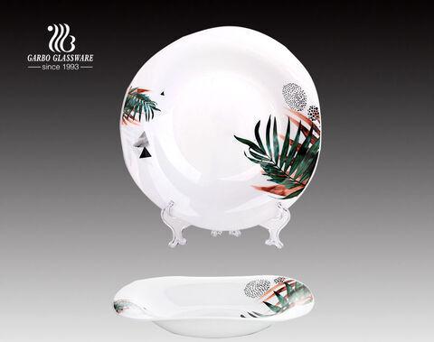 Placa de vidro da opala da louça resistente ao calor de 11.5 polegadas