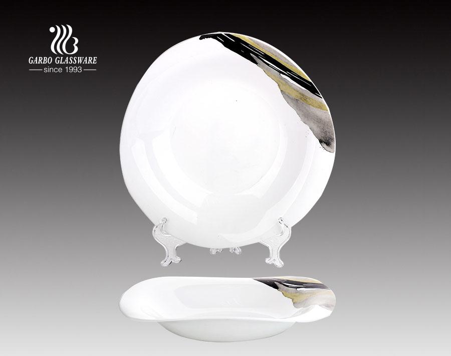 11.5 Zoll hitzebeständige Opalglaswaren Geschirr Opalglasplatte