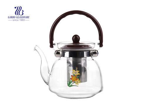Hitzebeständige Borosilikat Bor Glas Krug Glas Krug Glas Teekanne China Fabrik