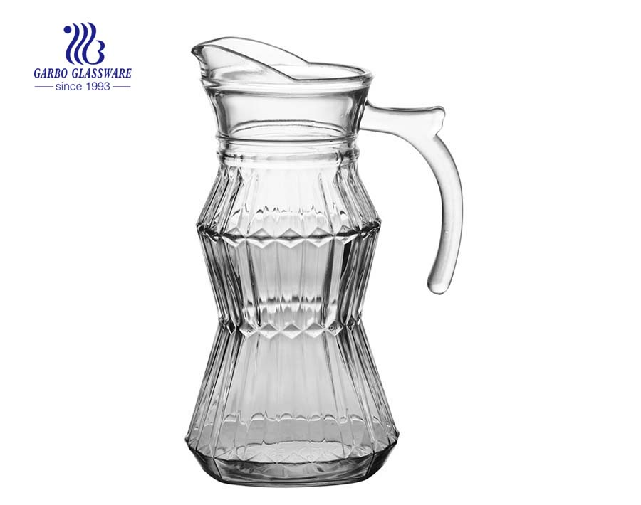 Garbo Glass private moulds glass pitchers glass jugs with custom color printing