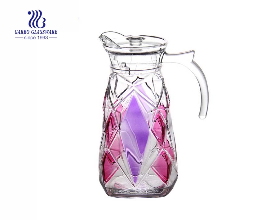 Garbo Glass classic moulds 1.8L glass pitchers glass jugs with custom spraying colors